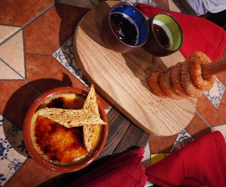 Bebemos Restaurant Churros and Crema Catalana Plan Out Dubai